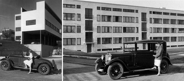 Fotografías-de-edificios-en-la-Weissenhof-Siedlung-frente-a-obras-de-Le-Corbusier-y-Mies-vander-Rohe